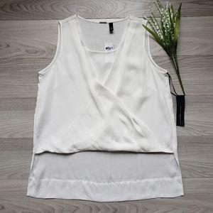 CHICO'S shear white sleeveless top